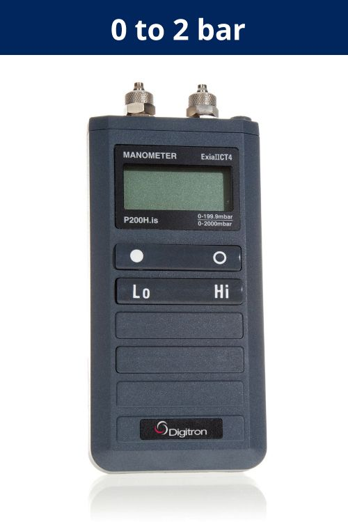 Pressure Meter - Intrinsically Safe P200HIS | 0 to 2 bar