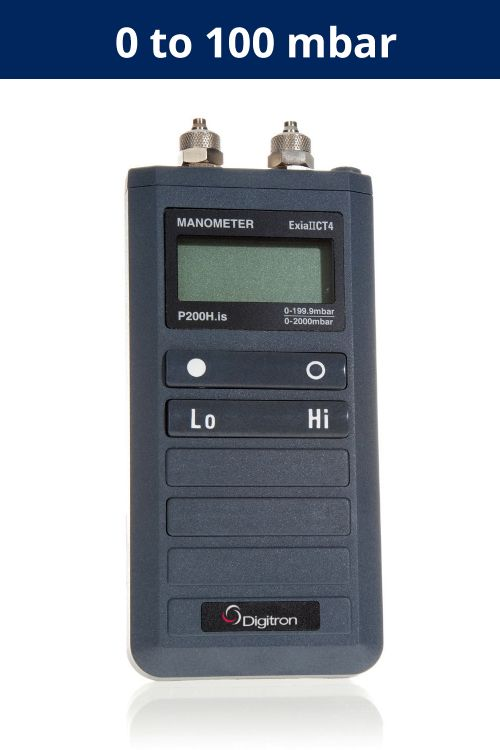 Pressure Meter - Intrinsically Safe P200ULIS | 0 to 100 mbar